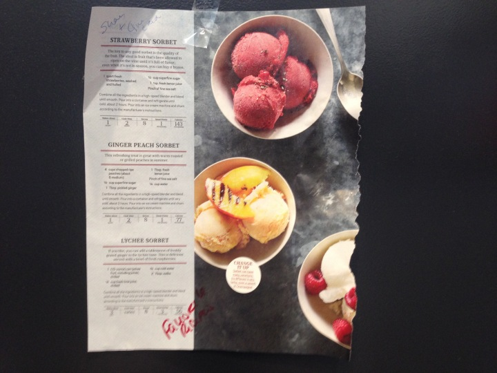 Ripped From the Pages: Oprah'sSorbet
